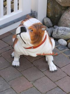 Englische Bulldogge als Dekofigur Tierfigur Figur - Vorschau 3