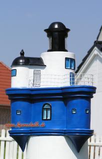 Leuchtturm Roter Sand in blau weiß Garten Maritim Deko Dekoration - Vorschau 4