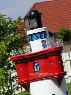 Leuchtturm Roter Sand Garten Deko Dekoration - Vorschau 3