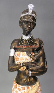 Massai Figur Afrika Frau Skulptur Statue Dekofigur