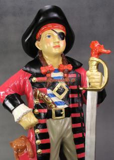 Pirat Seeräuber Figur Statue Dekoration Deko