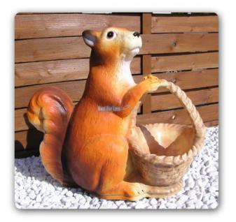 Eichhörnchen als Gartenfigur Figur Garten Deko - Vorschau