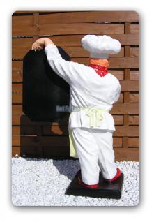 Koch Werbefigur Imbiss Menütafel Aufstellfigur - Vorschau 2