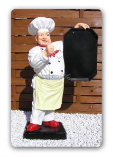 Koch Werbefigur Imbiss Menütafel Aufstellfigur - Vorschau 1