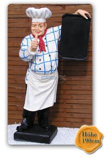 Bäcker Werbefigur Kundenstopper Bäckerei Figur