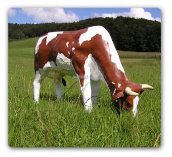 Kuh Dekofigur Aufstellfigur Bauernhof Figur Statue