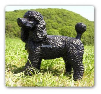 Pudel Poodle Figur Dekofigur Königspudel Statue - Vorschau 1