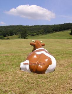 Kuh Lebensgroß Bauernhof Dekofigur - Vorschau 5