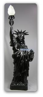 Freiheitsstatue Liberty Figur Stehleuchter schwarz
