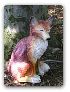 Fuchs Dekofigur Gartenfigur Figur Statue Wald Deko - Vorschau 2