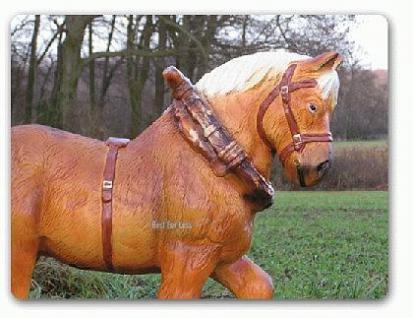 Pferd Dekofigur Kaltblüter Gartenfigur - Vorschau 2