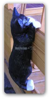 Katze Dekofigur Hängend Gartenfigur Figur Deko - Vorschau 4