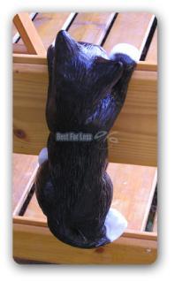 Katze Dekofigur Hängend Gartenfigur Figur Deko - Vorschau 2
