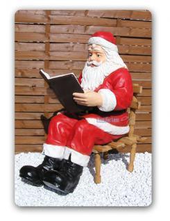 weihnachtsmann sitzend dekofigur weihnachtsfigur kaufen. Black Bedroom Furniture Sets. Home Design Ideas