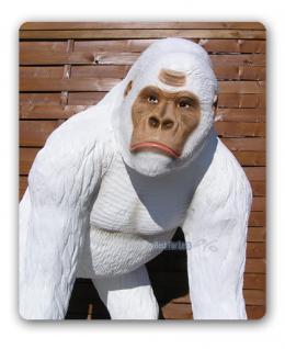 Weißer Gorilla Figur Dekofigur Afrika Deko Tier