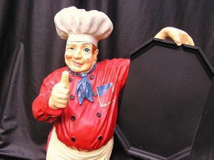 Koch Werbefigur Figur Werbeaufsteller Tafel - Vorschau 2