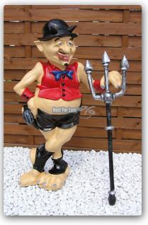 Schwuler Teufel Figur Statue LACK UND LEDER - Vorschau 1