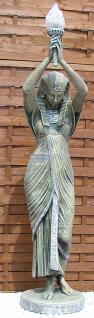 Ägyptische Frau Stehlampe Figur Ägypten Deko