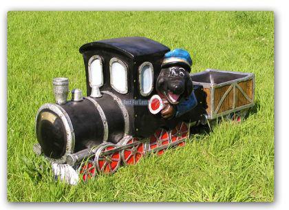 Maulwurf Lokomotive Eisenbahn Gartenfigur Deko