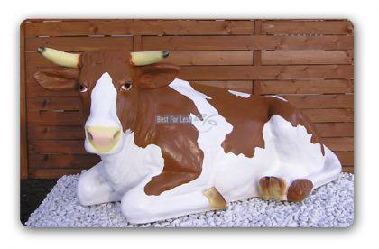 Kuh liegend als Dekofigur Figur Aufstellfigur - Vorschau 2