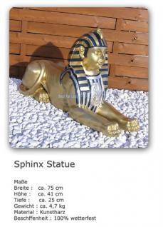 Sphinx Ägyptische Figur Statue in Gold Optik Deko - Vorschau 3