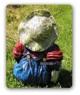 Maulwurf als Gartenarbeiter Gartenfigur Dekoration - Vorschau 3