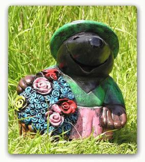 Maulwurf als Blumen Figur Dekofigur Gartenfigur - Vorschau 1