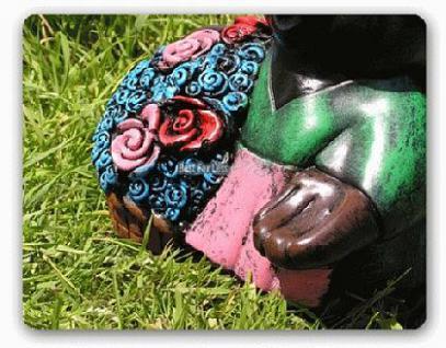 Maulwurf als Blumen Figur Dekofigur Gartenfigur - Vorschau 3