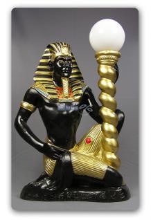 Ägypter Statue Imoteph Leuchter Figur Deko