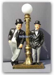 Dick und Doof mit Stehleuchte Statue Figur Laterne