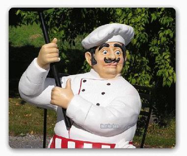 Pizza Bäcker Werbefigur Werbeaufsteller Figur Menü - Vorschau 2