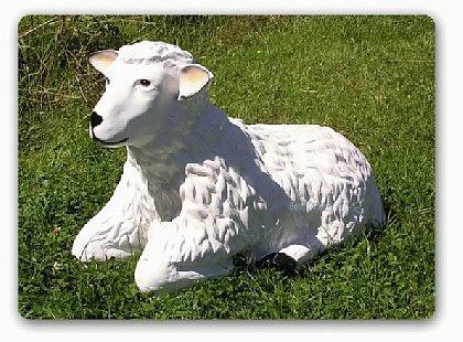 Schaf liegend Figur Gartenfigur Aufstellfigur Deko - Vorschau 1