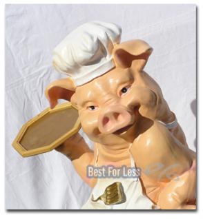 Schwein als Butler Dekofigur Werbefigur - Vorschau 1