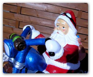 Weihnachtsmann Biker Dekofigur Motorrad Statue - Vorschau 2