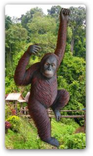 Affe Orang Utan Figur Statue Werbefigur Skulptur