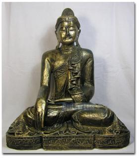 gro e statue des thai buddha als aufstellfigur kaufen bei helga freier. Black Bedroom Furniture Sets. Home Design Ideas