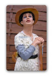 Hirtenjunge Alm Junge Gartenfigur Dekofigur Statue - Vorschau 2