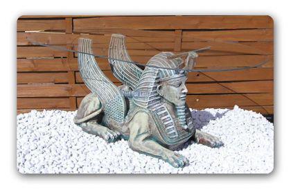 Ägyptische Sphinx Couschtisch Figur Statue Möbel - Vorschau 1