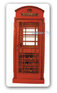 Englisch Britisch Telefonzelle Weinregal Vitrine - Vorschau 1