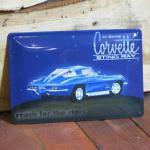NOSTALGIE BLECHSCHILD US CAR CORVETTE RETRO NEU OLDSCHOOL SCHILD BLECH REKLAME