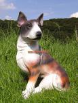 Bullterrier Pit Bull Rasse Hundefigur Statue Skulptur
