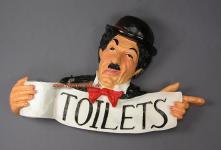 Charlie Chaplin Toilettenschild Hinweisschild Schild Toilette