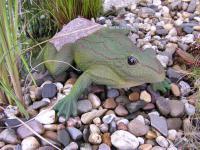 Frosch Kröte Dekofigur für Garten und Gartenteich
