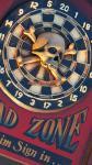 Wandschild Dart Dartscheibe mit Totenkof Antik Deko