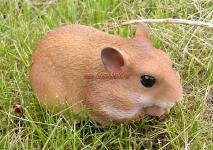 Hamster Figur Skulptur Haustier Deko Fan Artikel