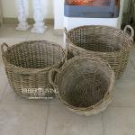 Maritimer Rattankorb im Home Interiors und Landhausstil
