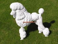 Großpudel Pudel Figur Statue Skulptur Fan Artikel
