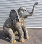 Elefant Dekofigur Baby Lebensgroß sitzend Figur