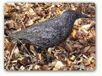 Schwarzer Rabe Vogel Figur Dekofigur