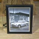 Aston Martin James Bond Auto Wandbild Fotodruck Schwarz weiß Oldtimer Racing